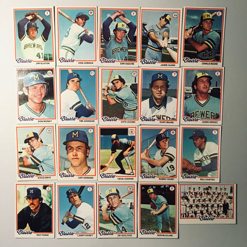 1978 Topps Baseball Milwaukee Brewers Team Lot 20/27 Cards No Dupes