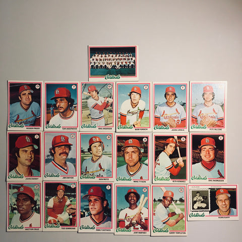 1978 Topps Baseball St.Louis Cardinals Team Lot 19/27 Cards No Dupes