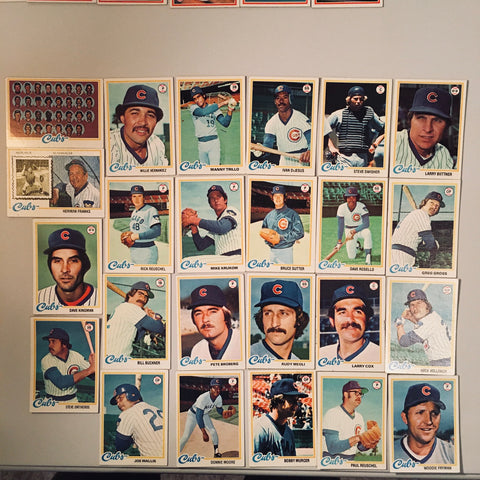 1978 Topps Baseball Chicago Cubs Team Lot 24/29 Cards No Dupes
