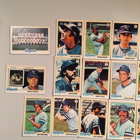 1978 Topps Baseball Kansas City Royals Team Lot 24/27 Cards No Dupes - Brett