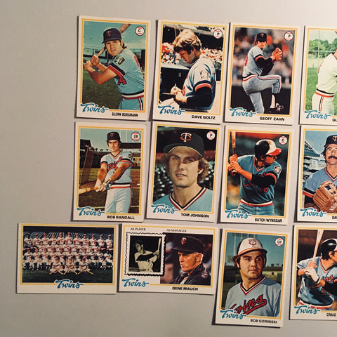 1978 Topps Baseball Minnesota Twins Team Lot 18/23 Cards No Dupes - Rod Carew
