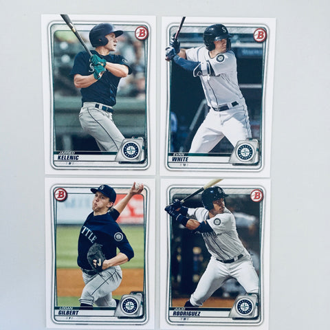 2020 Bowman Prospects Team Set - Seattle Mariners (4 Cards)