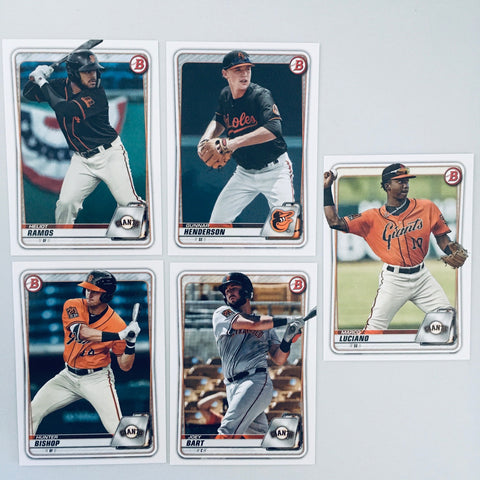 2020 Bowman Prospects Team Set - San Francisco Giants (4 Cards)