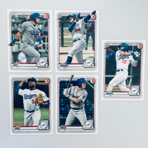 2020 Bowman Prospects Team Set - Los Angeles Dodgers (5 Cards)