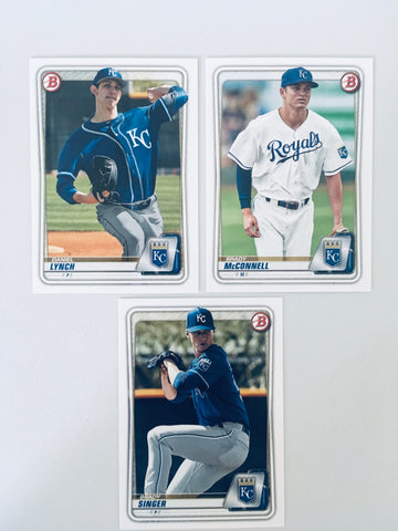 2020 Bowman Prospects Team Set - Kansas City Royals -  (4 Cards)