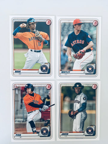 2020 Bowman Prospects Team Set - Houston Astros -  (4 Cards)