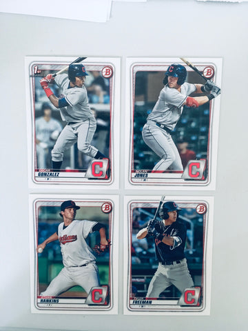 2020 Bowman Prospects Team Set - Cleveland Indians – (4 Cards)