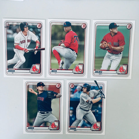 2020 Bowman Prospects Team Set - Boston Red Sox –  (5 Cards)