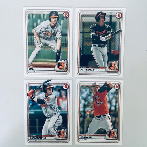 2020 Bowman Prospects Team Set - Baltimore Orioles – (5 Cards)