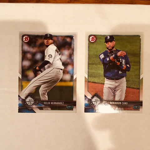 2018 Bowman Base Team Set - Seattle Mariners (2 Cards)