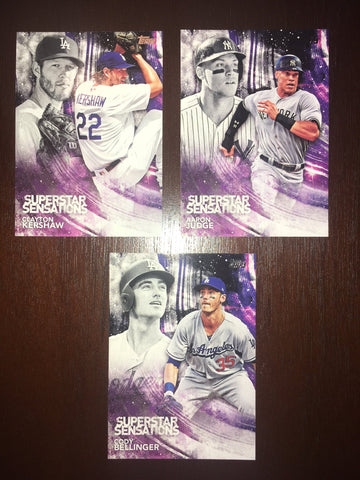2018 Topps Superstar Sensations Complete Set 1-50