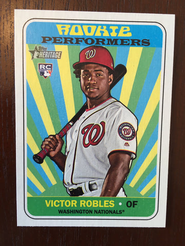 2018 Topps Heritage Rookie Performers #RPVR Victor Robles