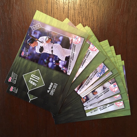 2018 Topps Top 10 Topps Now Inserts Complete 10 Card Set