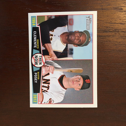 2013 Topps Heritage Then and Now #CP Roberto Clemente/Buster Posey