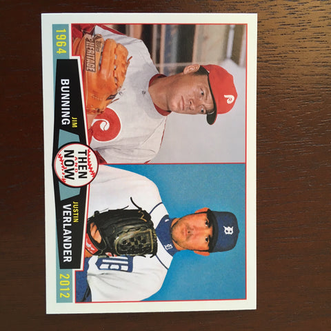 2013 Topps Heritage Then and Now #BV Jim Bunning/Justin Verlander