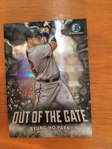 2016 Bowman Chrome Out of the Gate #OOG8 Byung-ho Park