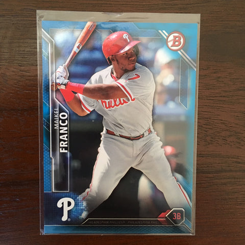 2016 Bowman Blue #65 Maikel Franco Team: Philadelphia Phillies 121/150