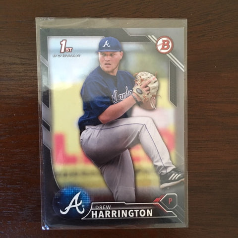 2016 Bowman Draft Silver #BD37 Drew Harrington 245/499