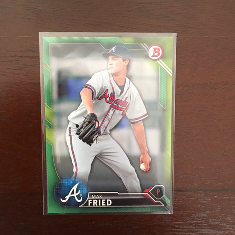 2016 Bowman Prospects Green #BP113 Max Fried 98/99