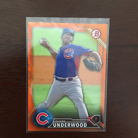 2016 Bowman Prospects Orange #BP101 Duane Underwood 15/25