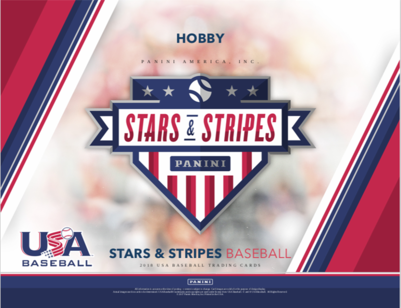 2018 PANINI USA STARS & STRIPES BASEBALL Hobby Box - Free shipping at check out