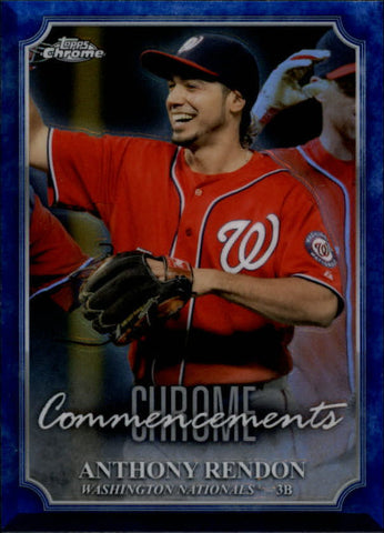 2015 Topps Chrome Commencements #COM11 Anthony Rendon