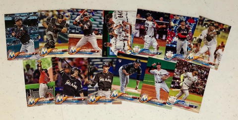 2018 TOPPS Series 1 team set - MIAMI MARLINS (13 cards)