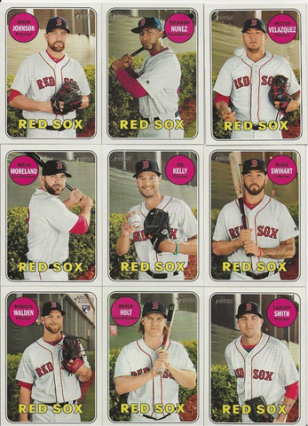 2018 Topps Heritage High Number Boston Red Sox Base Team Set