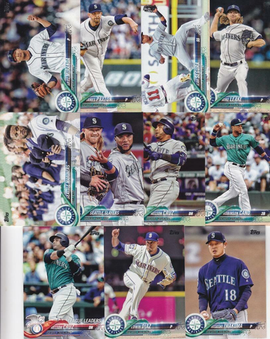 2018 TOPPS Series 1 team set - SEATTLE MARINERS  (11 cards)