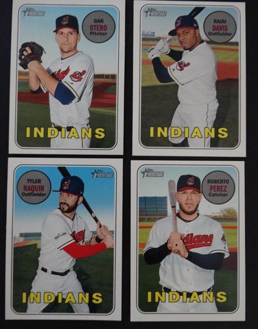 2018 Topps Heritage Cleveland Indians High Number Base Team Set