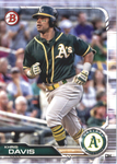 2019 Bowman Baseball  #9 Khris Davis - Oakland Athletics