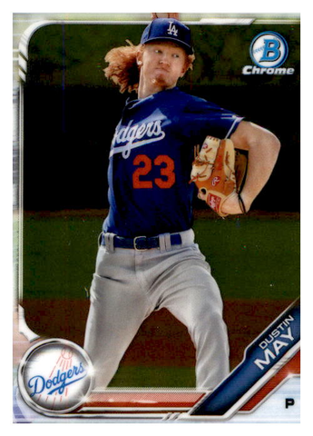 2019 Bowman Chrome Prospects Team Set - Los Angeles Dodgers Series 1