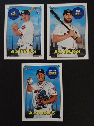 2018 Topps Heritage Houston Astros High Number Base Team Set