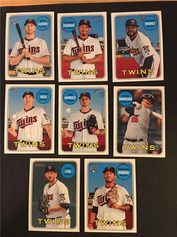 2018 Topps Heritage Minnesota Twins High Number Base Team Set