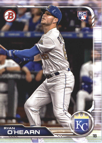 2019 Bowman Baseball  #93 Ryan O'Hearn RC - Kansas City Royals