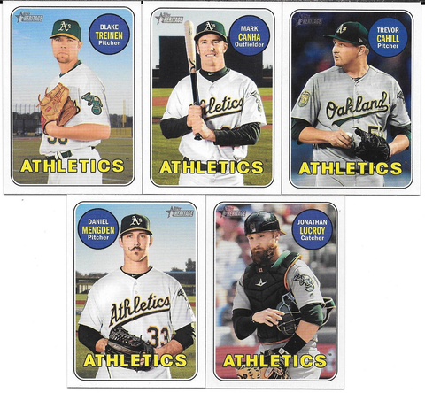 2018 Topps Heritage OAKLAND ATHLETICS High Number Base Team Set