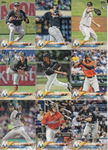 2018 Topps Series 2 Team Set - MIAMI MARLINS (9 cards)