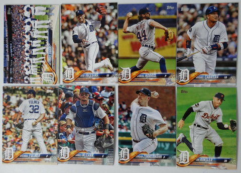 2018 TOPPS Series 1 team set - DETROIT TIGERS (8 cards)