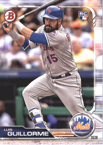 2019 Bowman Baseball  #39 Luis Guillorme RC - New York Mets