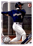 2019 Bowman Prospects Team Set - Milwaukee Brewers