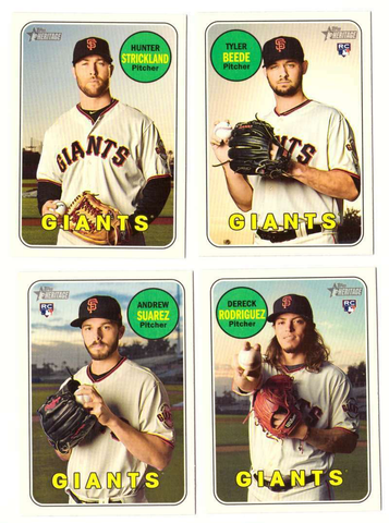 2018 Topps Heritage SAN FRANCISCO GIANTS High Number Base Team Set