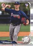 2019 Bowman Baseball  #52 Kyle Wright RC - Atlanta Braves