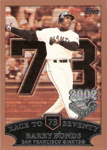 2002 Topps Opening Day #73 Barry Bonds HR 73