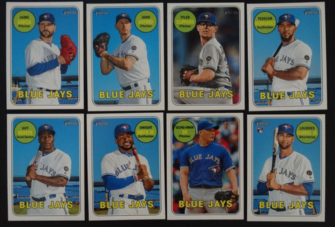2018 Topps Heritage Toronto Blue Jays Base High Number Base Team Set