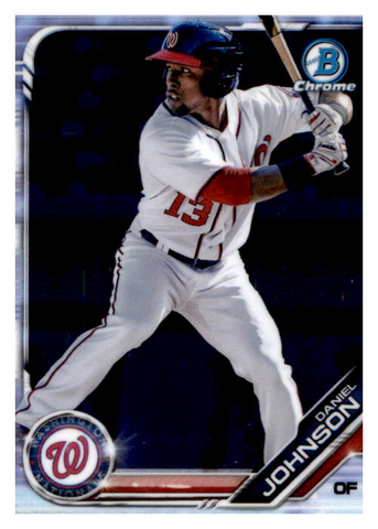 2019 Bowman Chrome Prospects Team Set - Washington Nationals Series 1