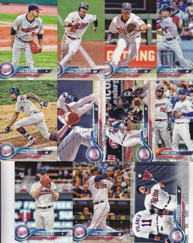 2018 TOPPS Series 1 team set - MINNESOTA TWINS (10 cards)