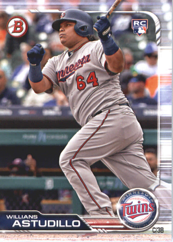 2019 Bowman Baseball  #24 Willians Astudillo RC - Minnesota Twins
