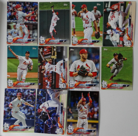 2018 TOPPS Series 1 team set - ST. LOUIS CARDINALS (11 cards)