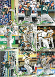 2018 Topps Series 1 & 2 & Update Team Set  Oakland Athletics - (32 Cards)