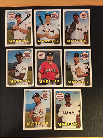 2018 Topps Heritage High Number Miami Marlins Team Set
